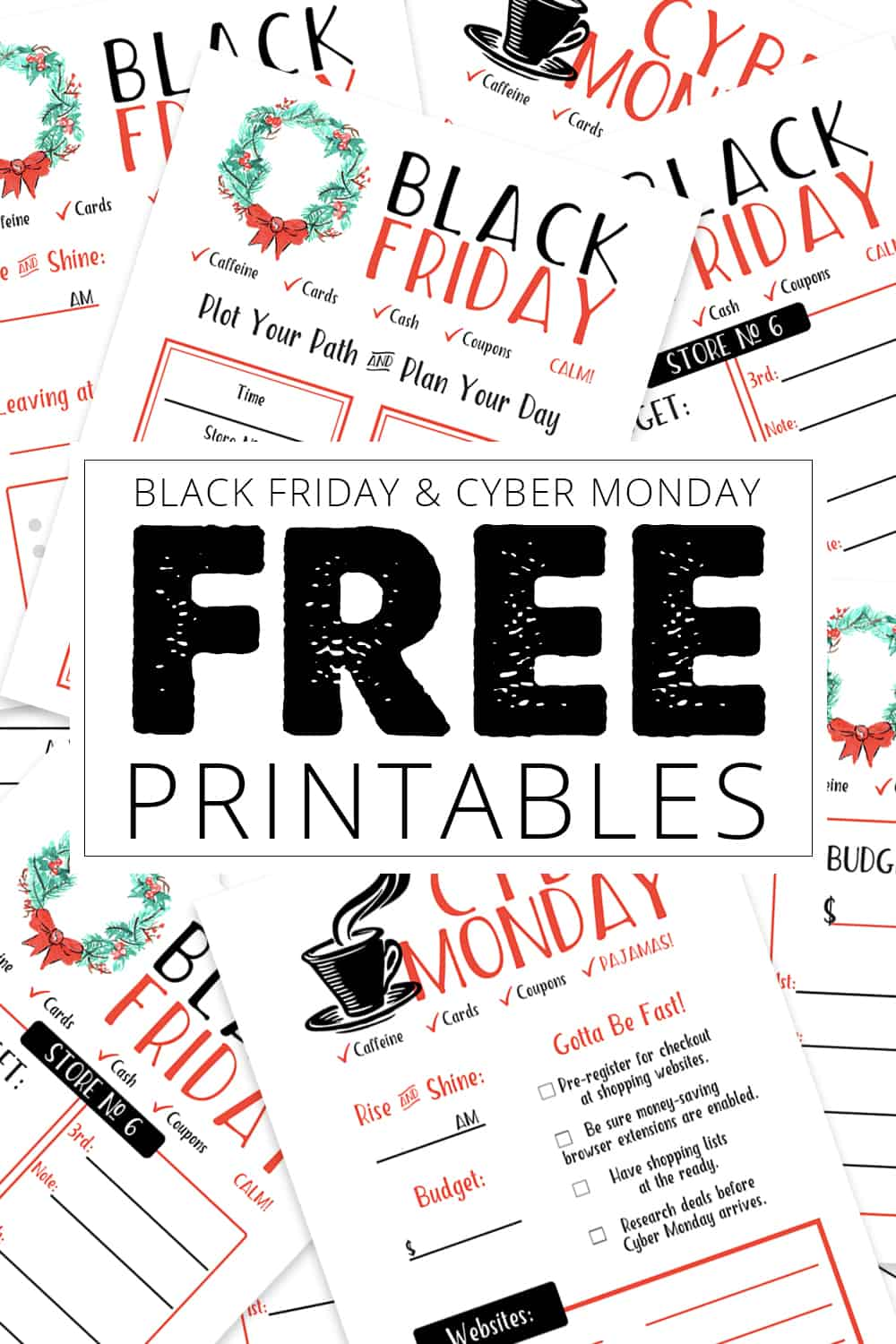 0cb07e908 Black Friday and Cyber Monday FREE Printables to Keep You on Track!