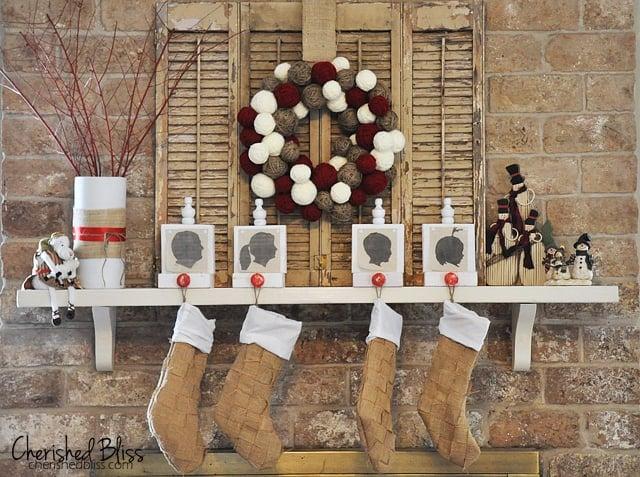 Cherished Bliss Weaved Burlap stockings