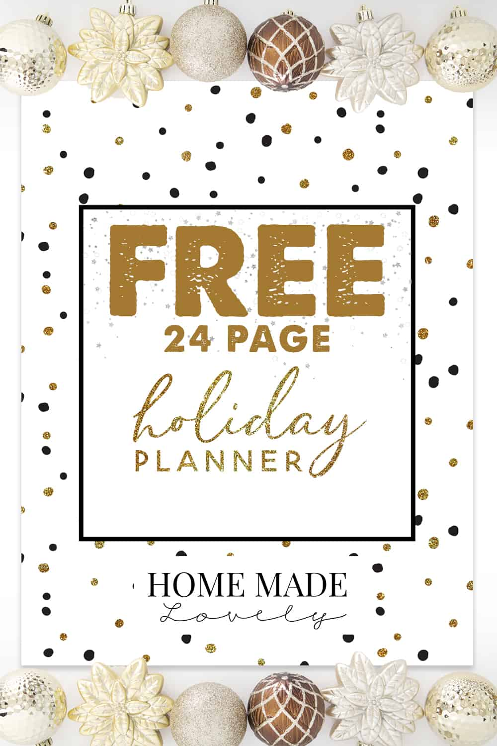 Free Holiday Planner Pack to help you plan Christmas and all the things that go with it!