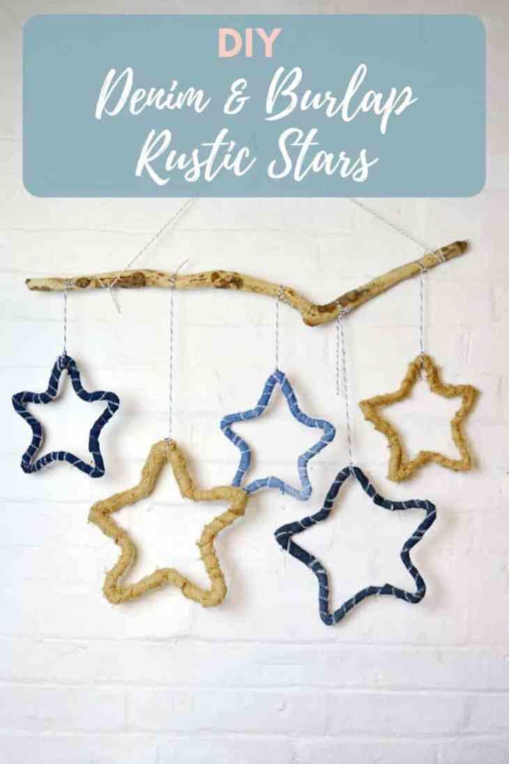 PIllar Box Blue DIY-denim-and-burlap-upcycled-rustic-stars-ornaments