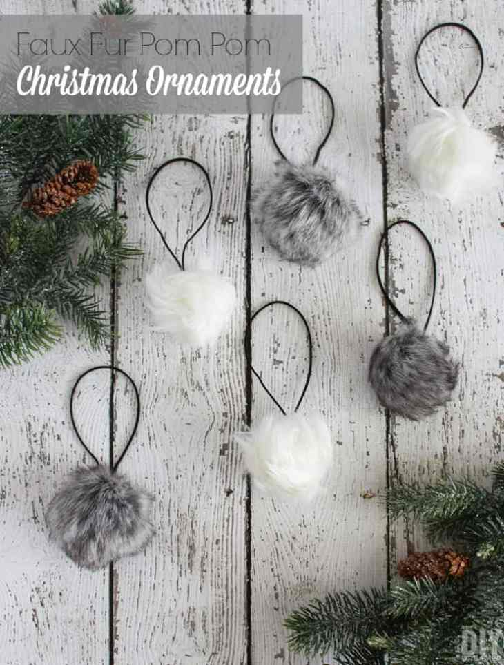 The DIY Dreamer Faux-Fur-Pom-Pom-Christmas-Ornaments