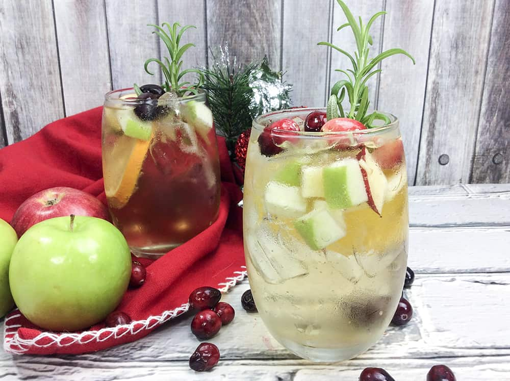 White wine holiday sangria