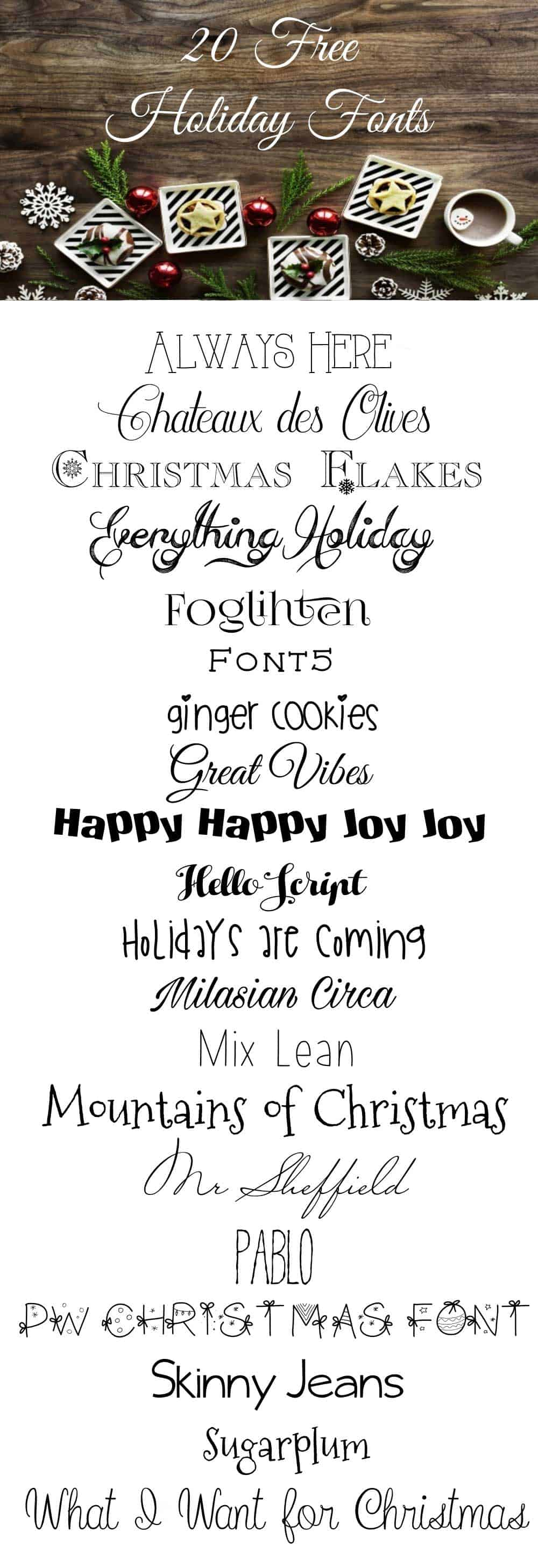 picture about Printable Fonts for Signs titled My Favored No cost Xmas Fonts - Best for Printables