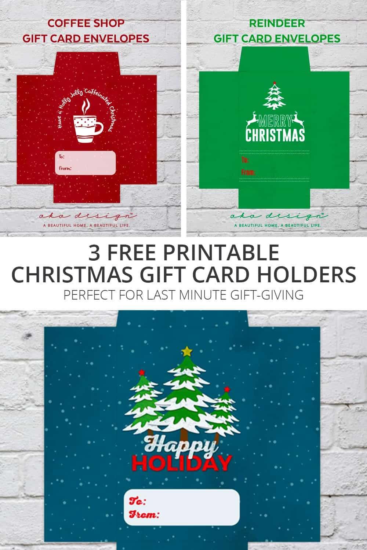 Christmas Gift Card Poster.3 Free Printable Christmas Gift Card Holders For Last