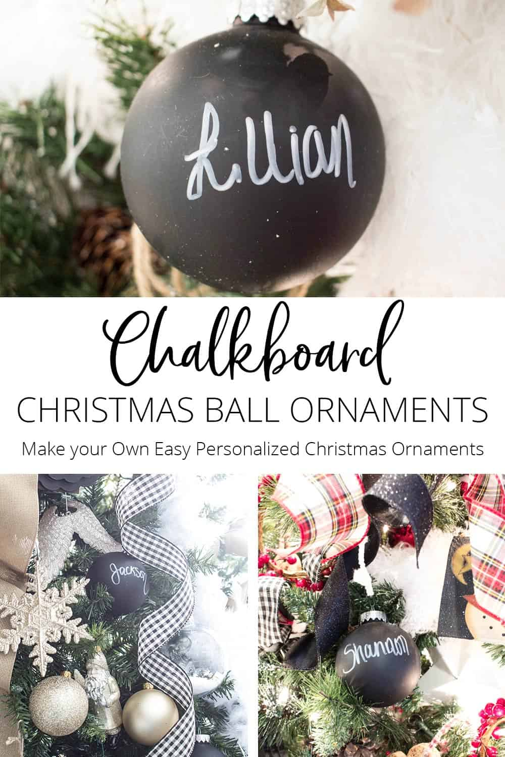 Crafting is one of those things you can do to slow down & enjoy Christmas. Crafts need not be complicated, like these Chalkboard Christmas Ball Ornaments.