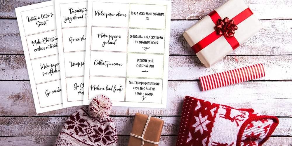 family advent calendar activity cards