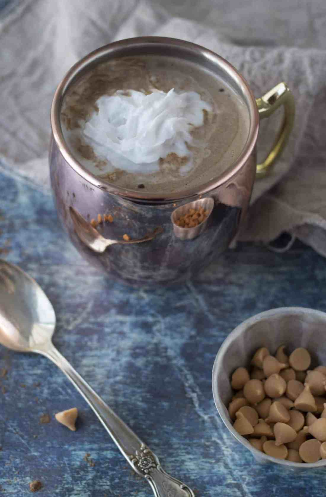 butterscotch hot chocolate 3 ingredient recipe