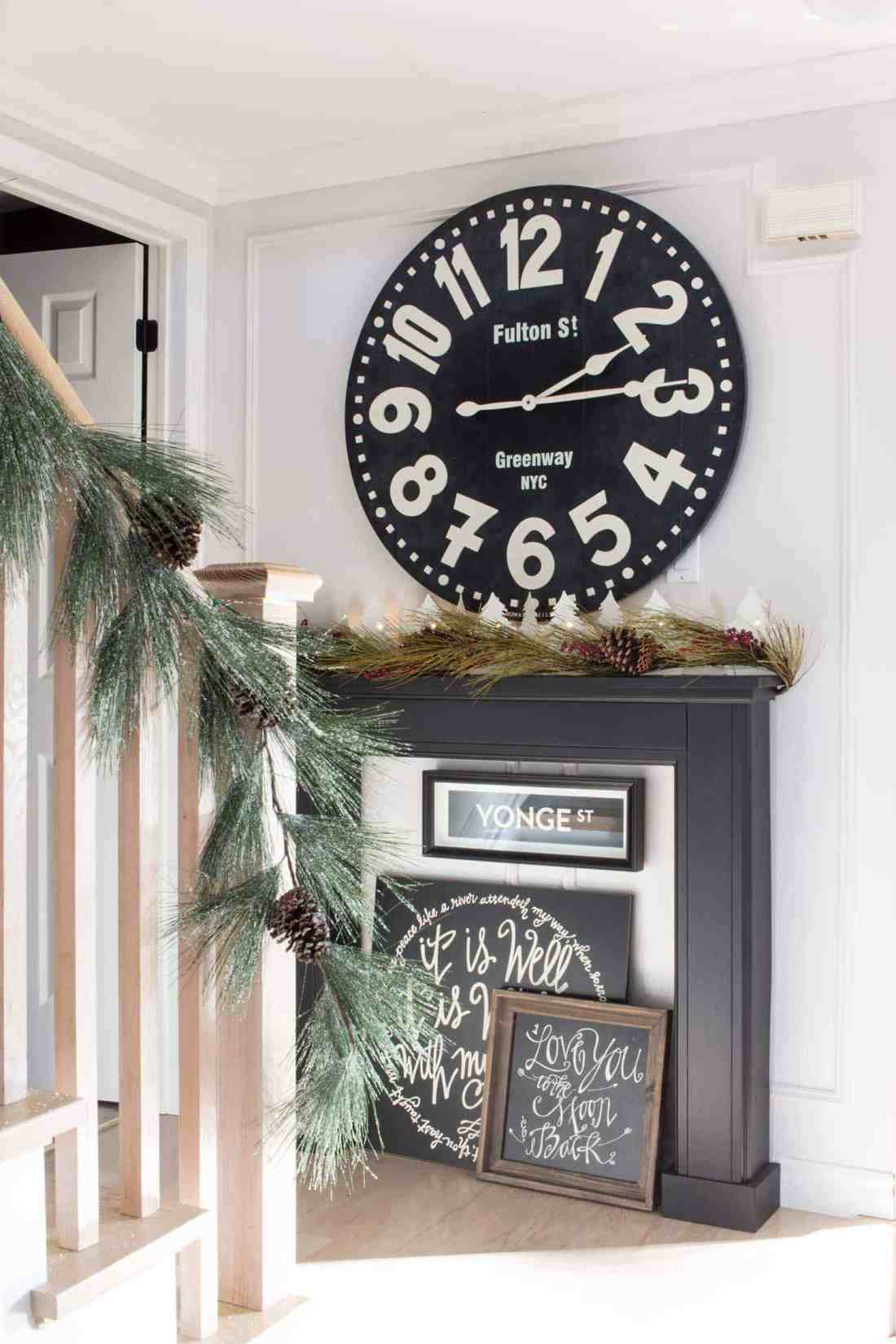 landing-with-fireplace-and-huge-clock