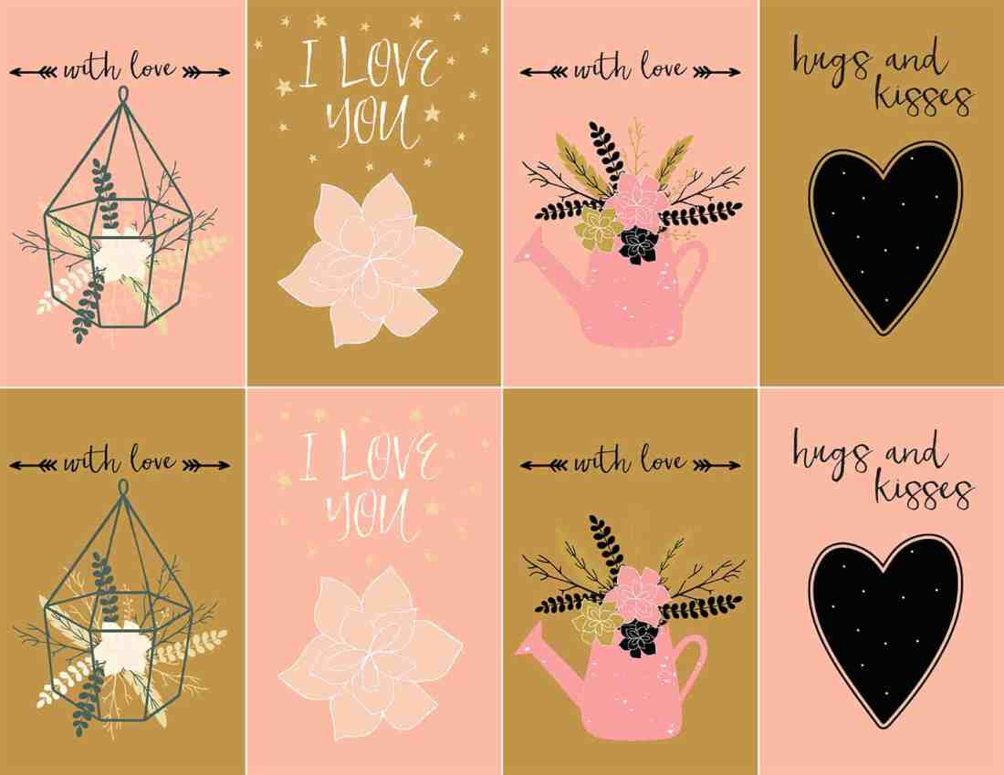 Free printable farmhouse Valentine's Day cards