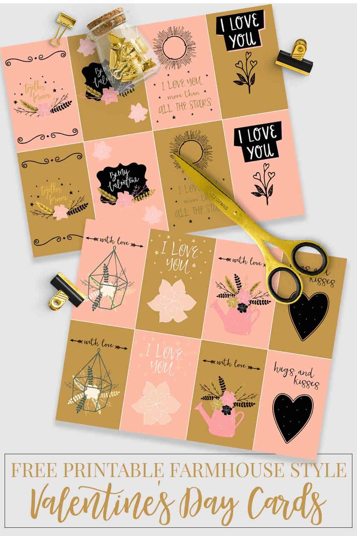 printable Valentine's day cards, scissors, etc.