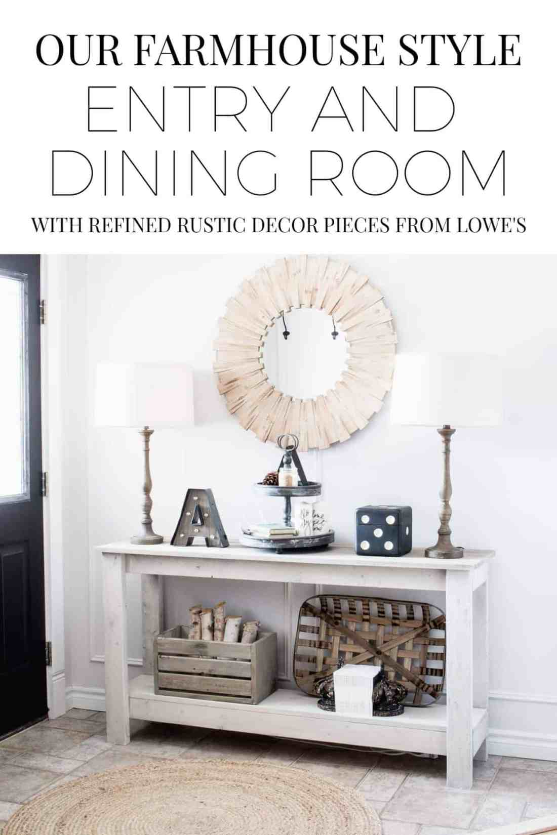 farmhouse style entry and dining room