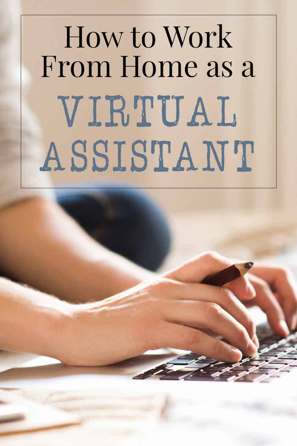 how to work from home as a virtual assistant, woman working on laptop in bed with cell phone beside her
