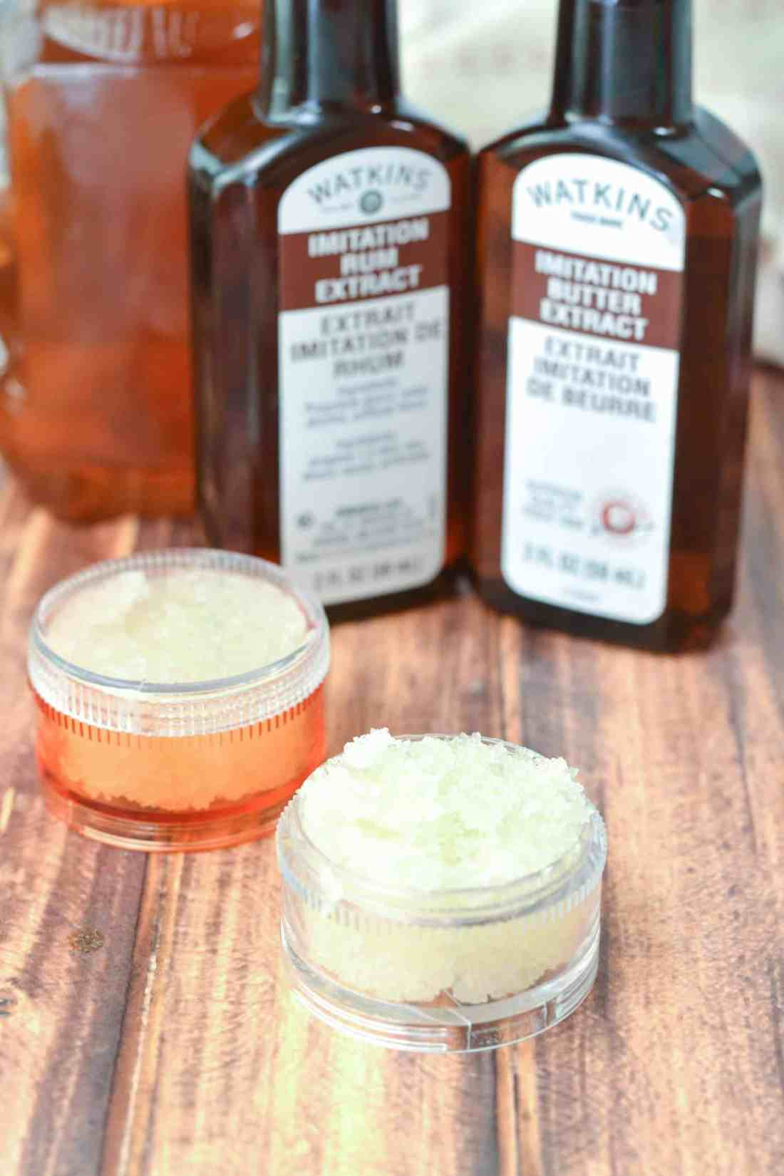 lip scrub in two small containers