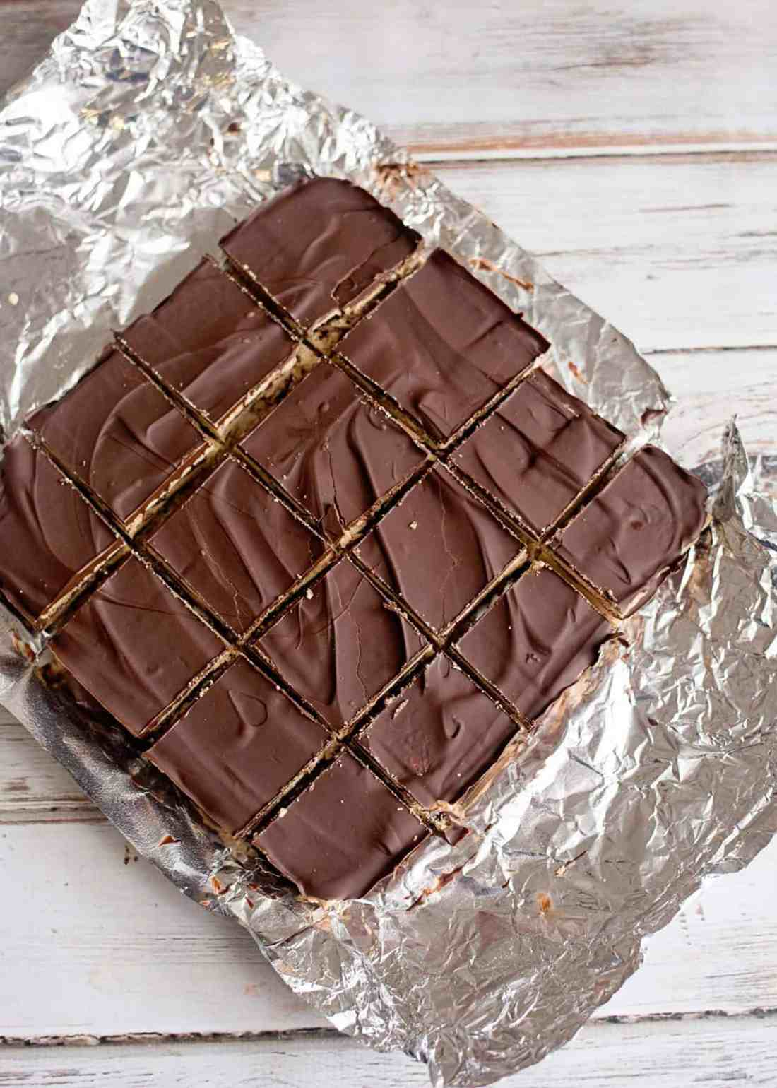 When ready to eat, allow the bars to sit out on the counter for 5-10 minutes, cut and enjoy!