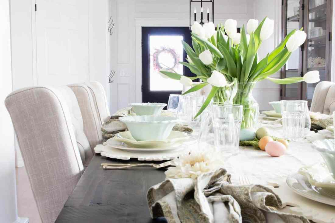 farmhouse spring dining room