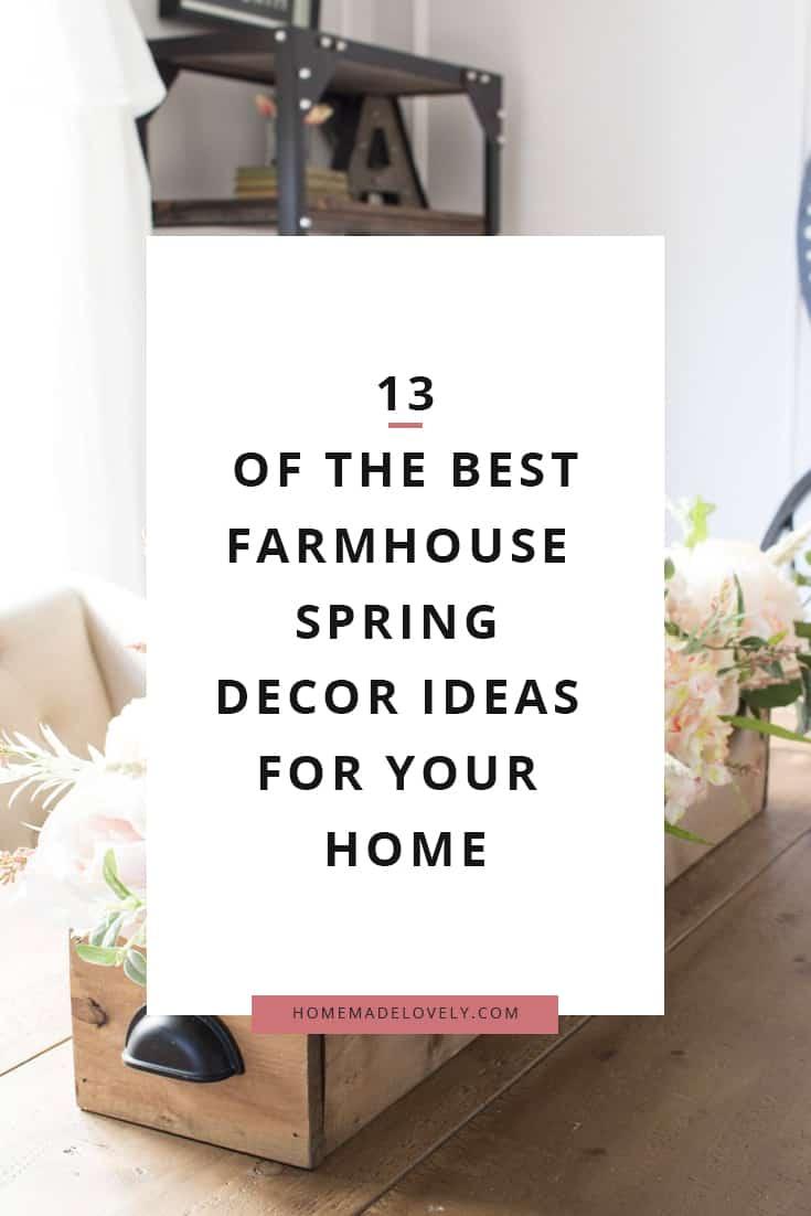 spring farmhouse decor ideas