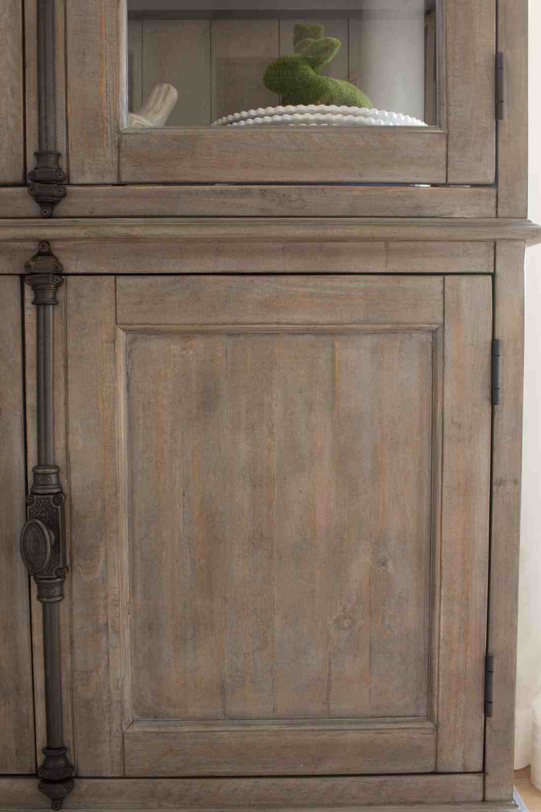 Keswick Buffet and Hutch from The Brick, wood detail