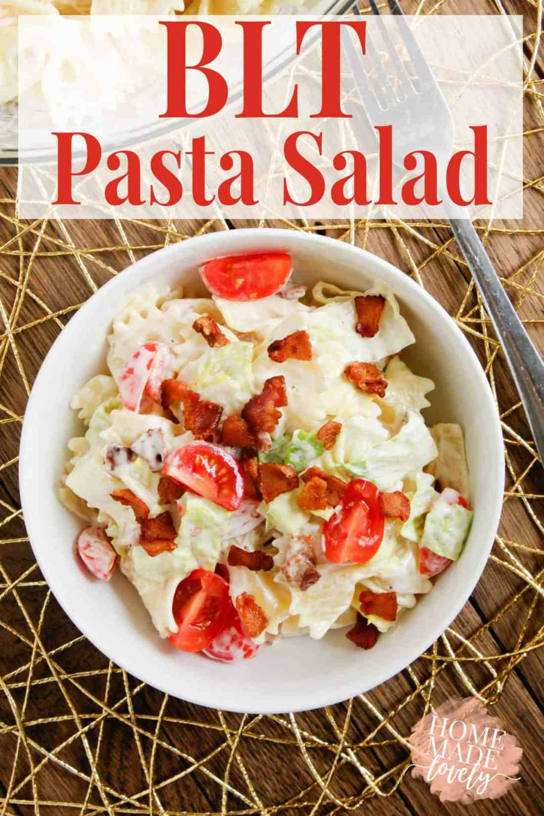 This BLT Pasta Salad recipe combines the flavors of a BLT sandwich and classic pasta salad into one delicious bowlful of yumminess!