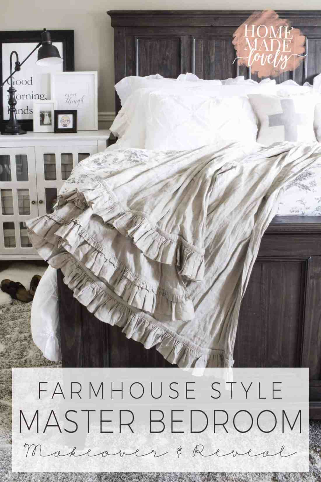 Our master bedroom needed a lot of TLC to make it into a lovely retreat. After a few weeks work, we're happy to share our farmhouse style master bedroom makeover reveal with you!