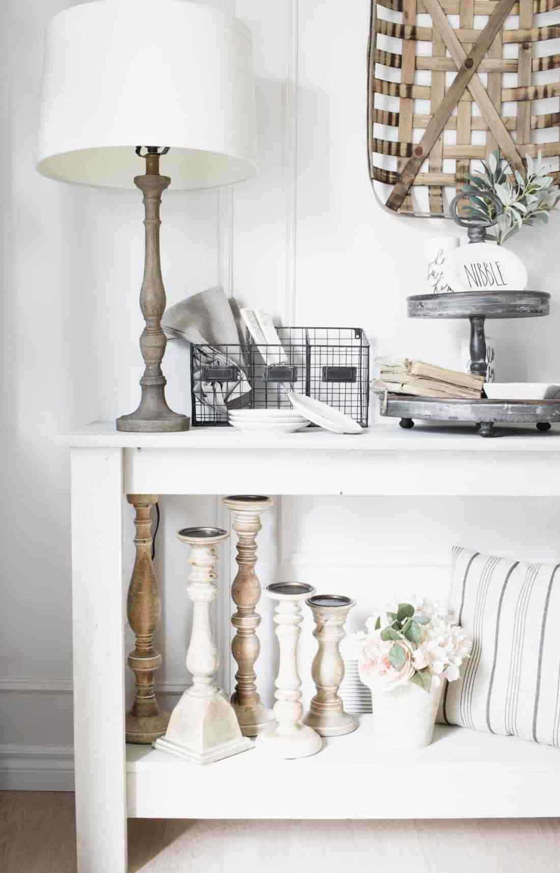 farmhouse style dining room console table