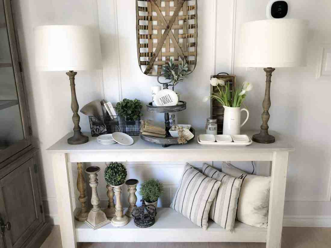 farmhouse dining room console table