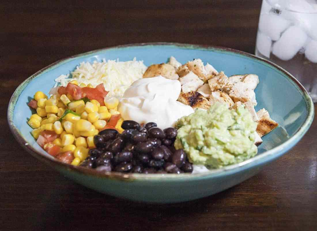 grilled chicken burrito bowl