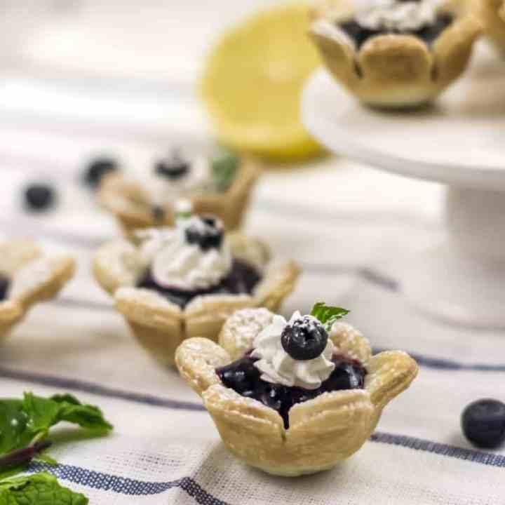 Blueberry Flower Tart