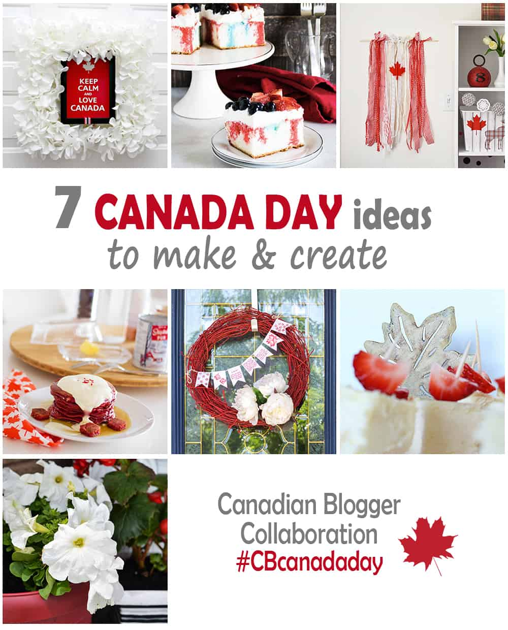Canada Day ideas to make and create.