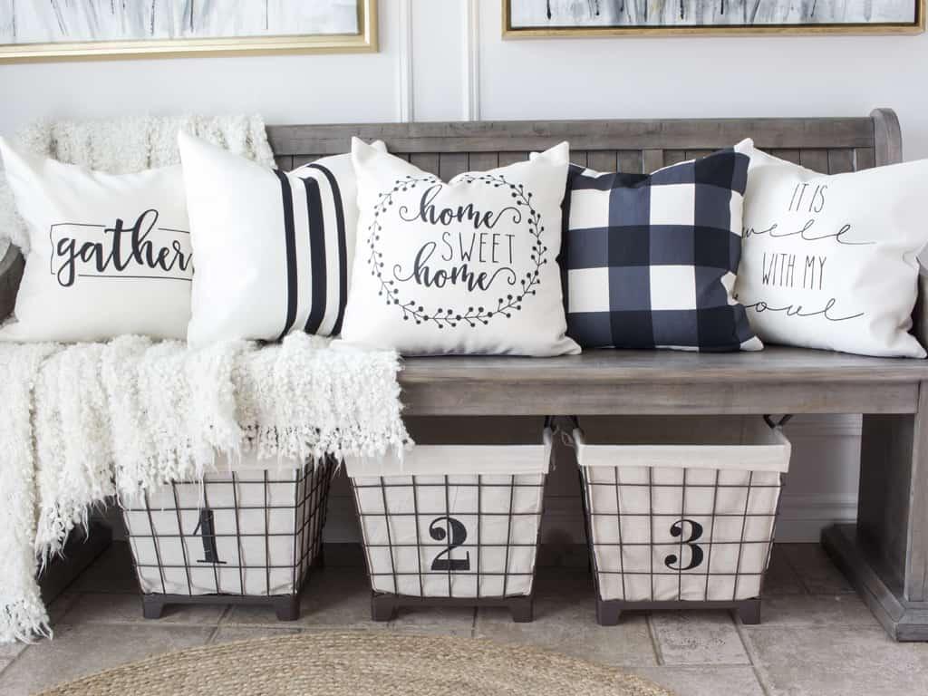 farmhouse style throw pillow covers