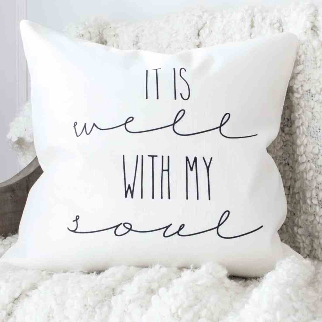 It is well throw pillow cover