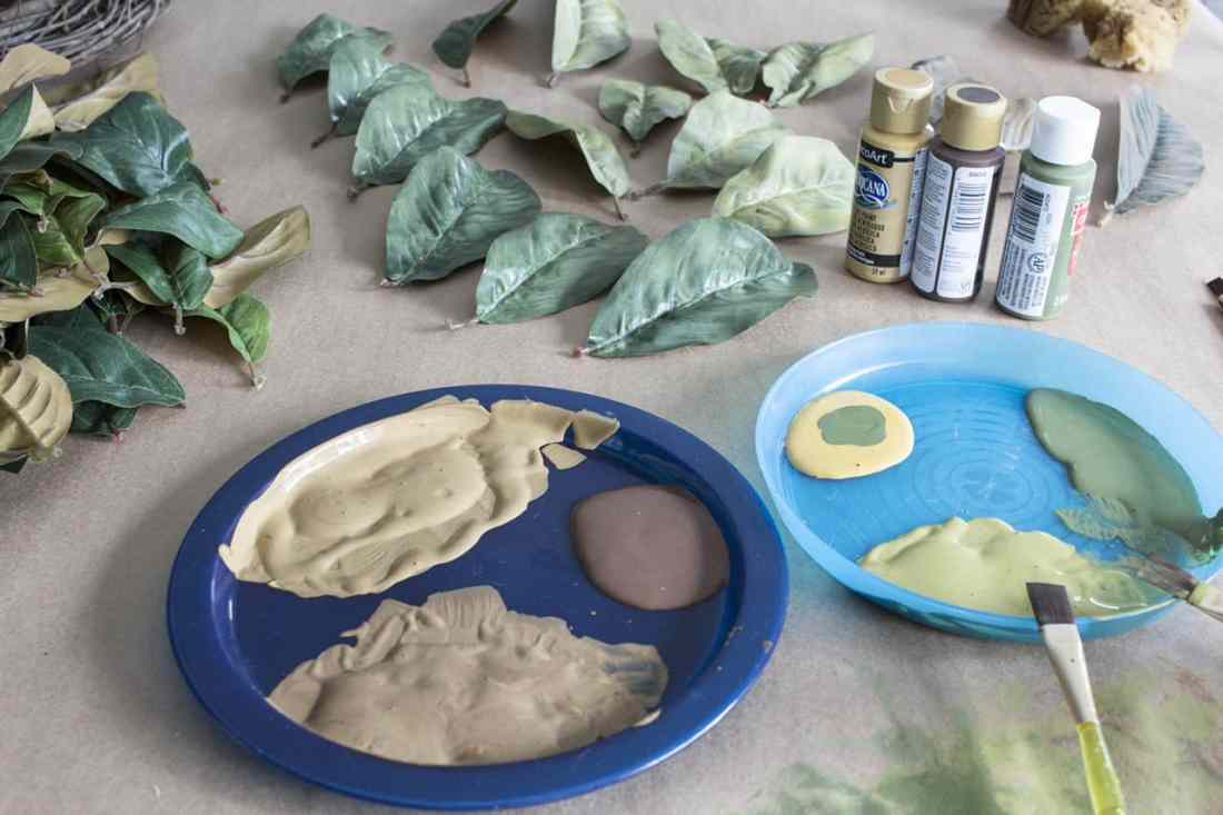 DIY Magnolia Wreath supplies