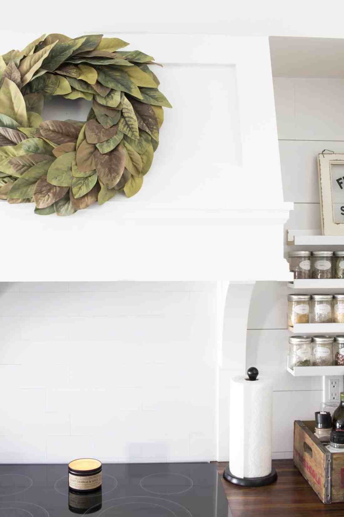 Magnolia Wreath DIY with Painted Leaves