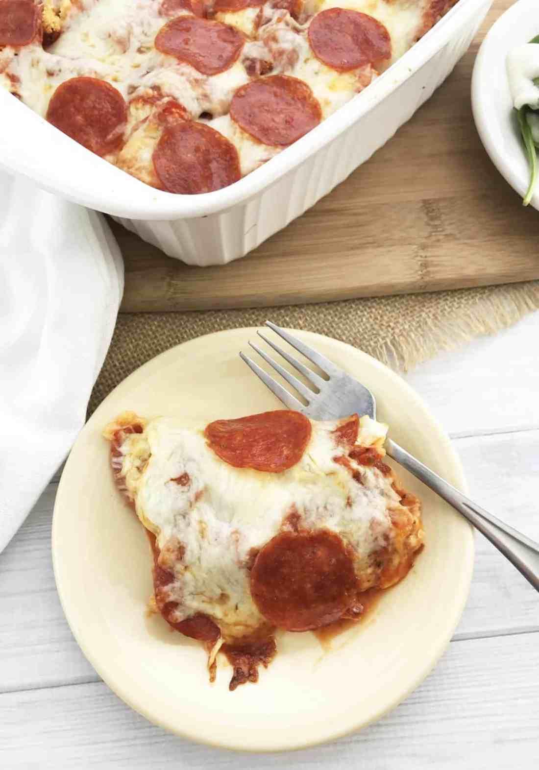 deconstructed pizza casserole keto friendly