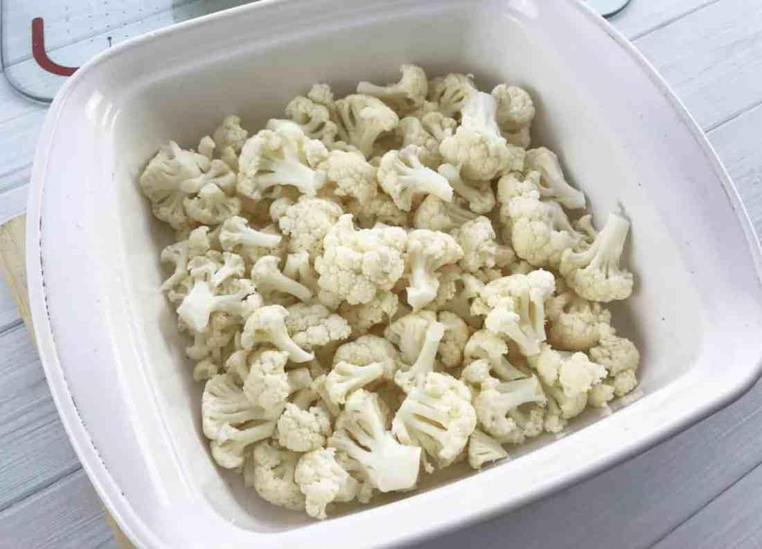 cauliflower casserole in dish