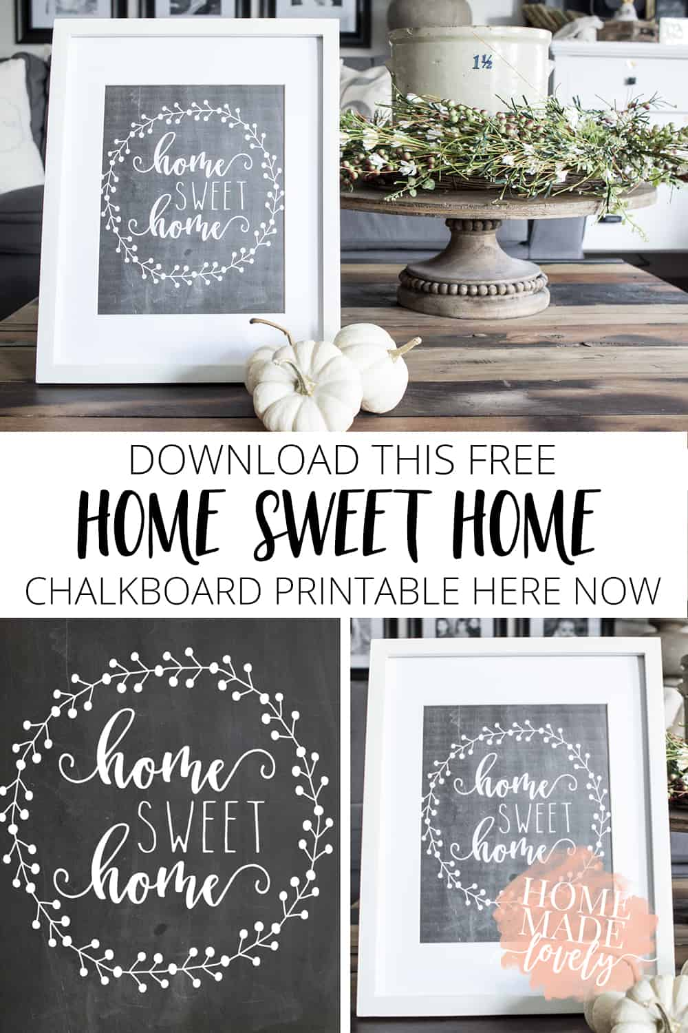 picture relating to Free Printables for Home identified as Down load This Cost-free Household Adorable Dwelling Chalkboard Printable Listed here Presently
