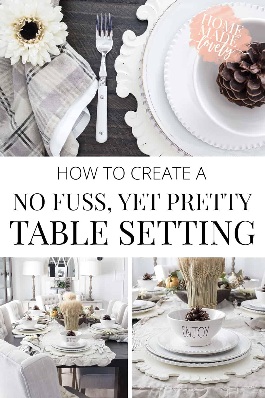 create a no fuss pretty table setting