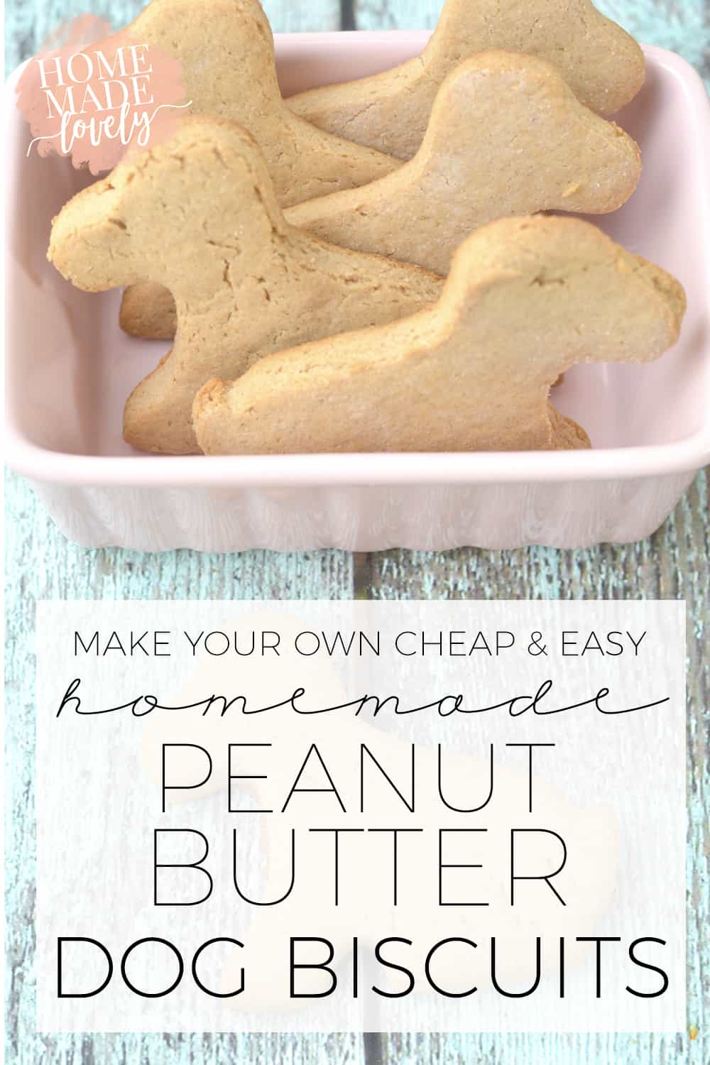make your own homemade pb dog biscuits pin