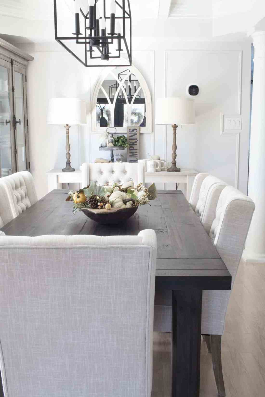 neutral farmhouse dining room