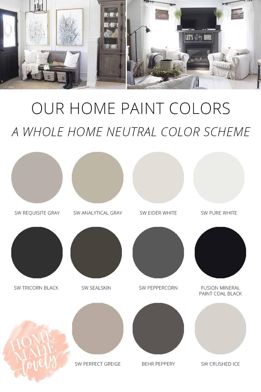our home paint colors - neutral color palette