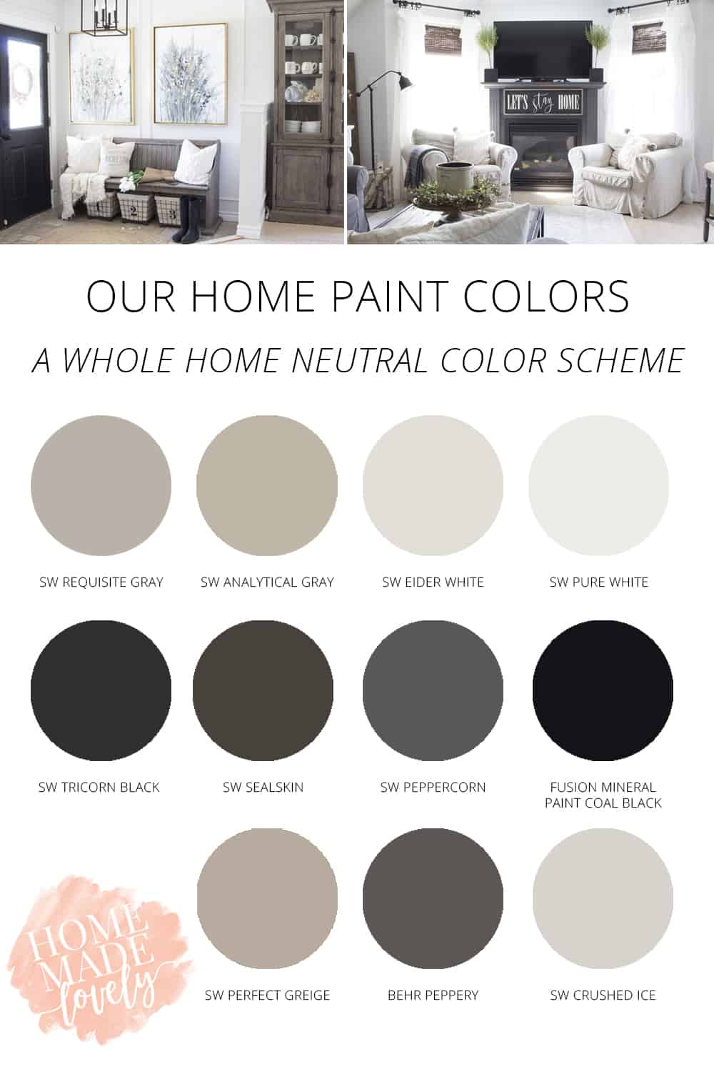 Our Home S Paint Colors A Neutral Whole Home Color Scheme