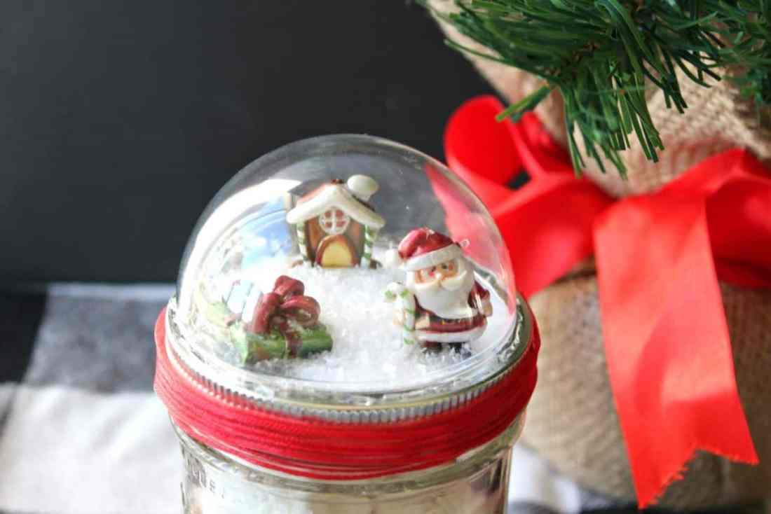 snow globe mason jars
