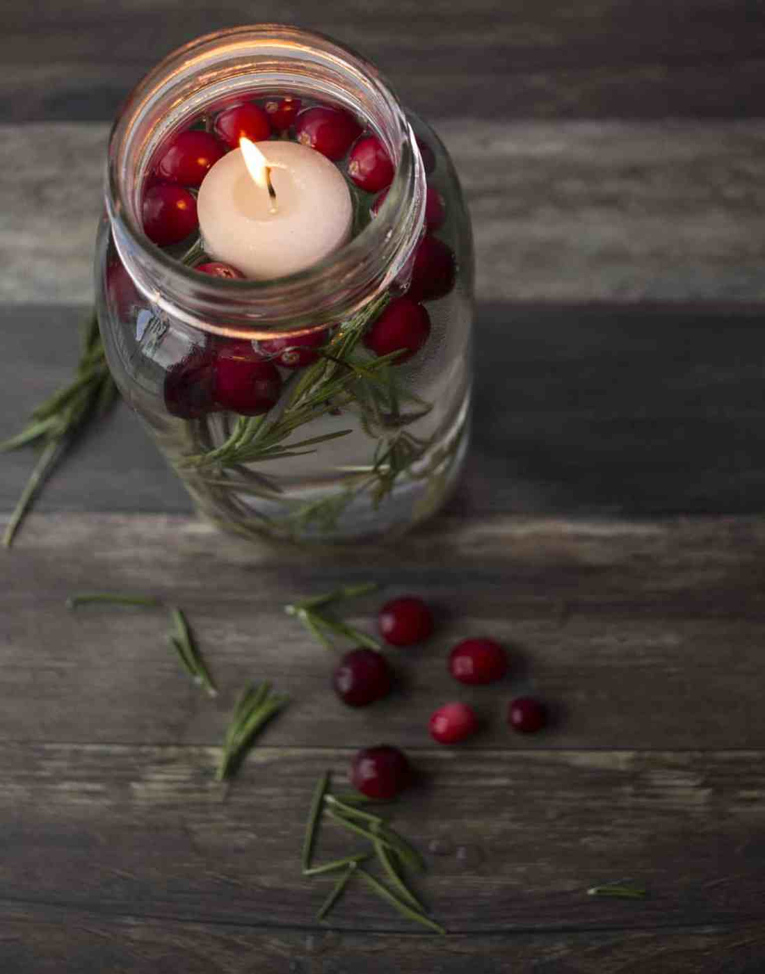 floating candle holiday centerpieces
