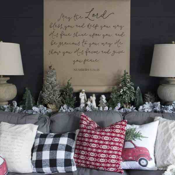 black shiplap wall paper scroll scripture art