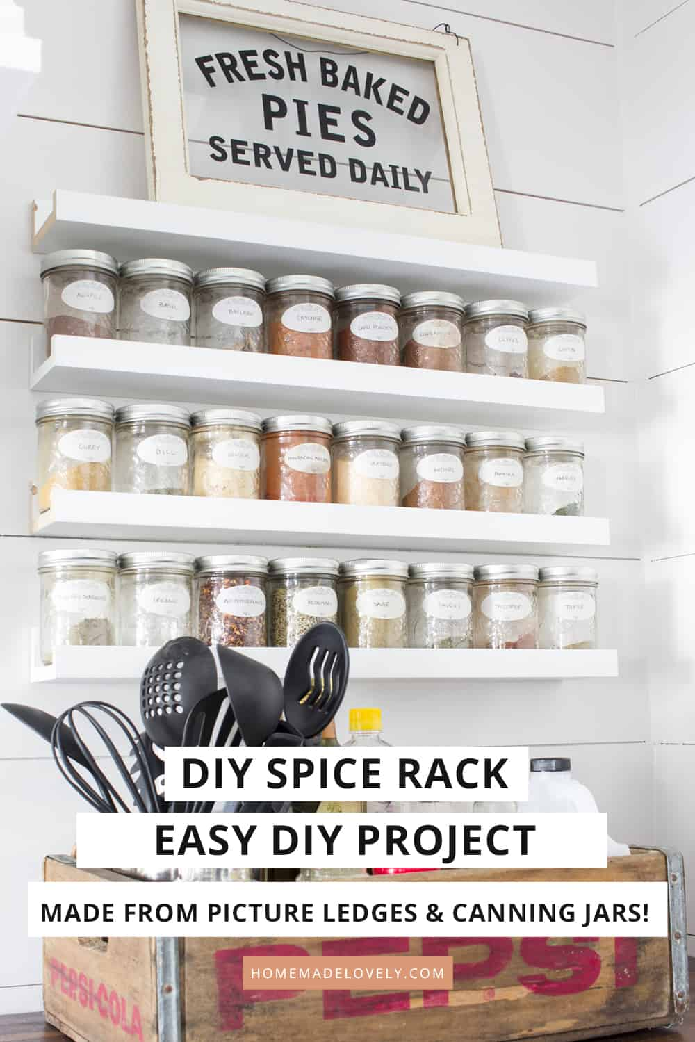 spices with this easy diy spice rack