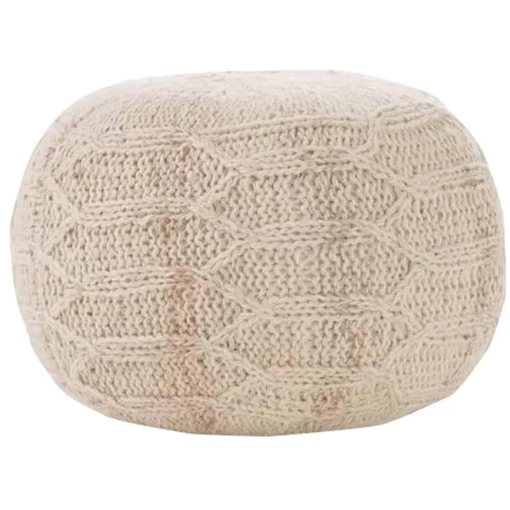 Manske Knit Pouf