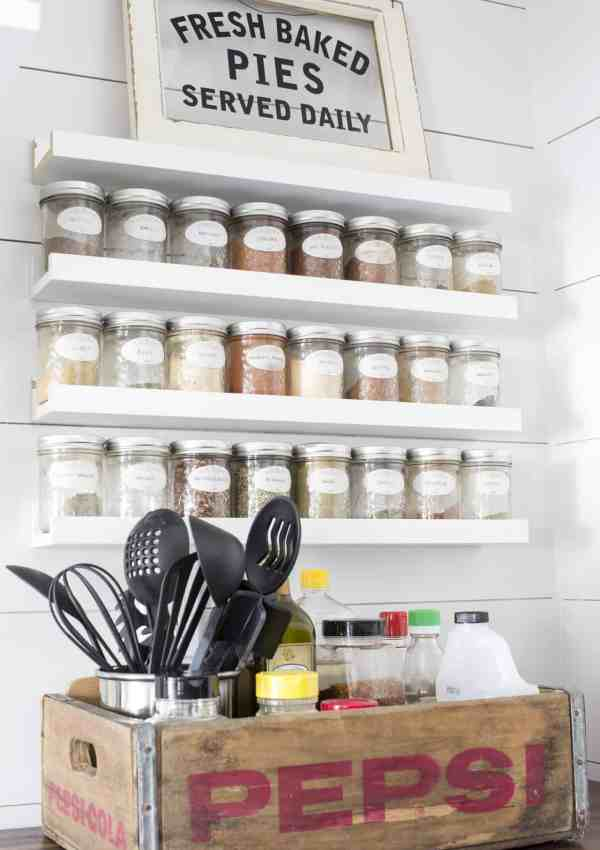 How To Store More Spices with This Easy DIY Spice Rack!