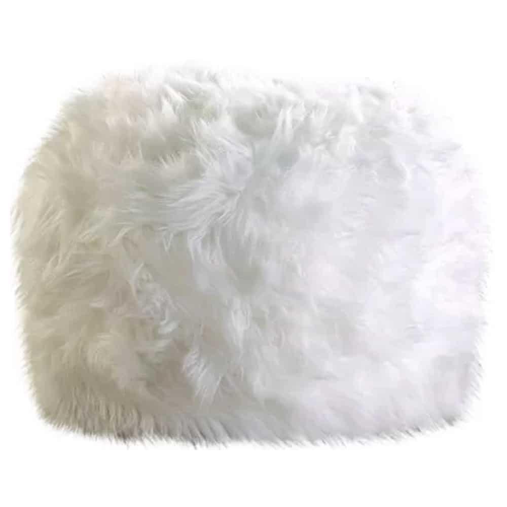 faux fur pouf