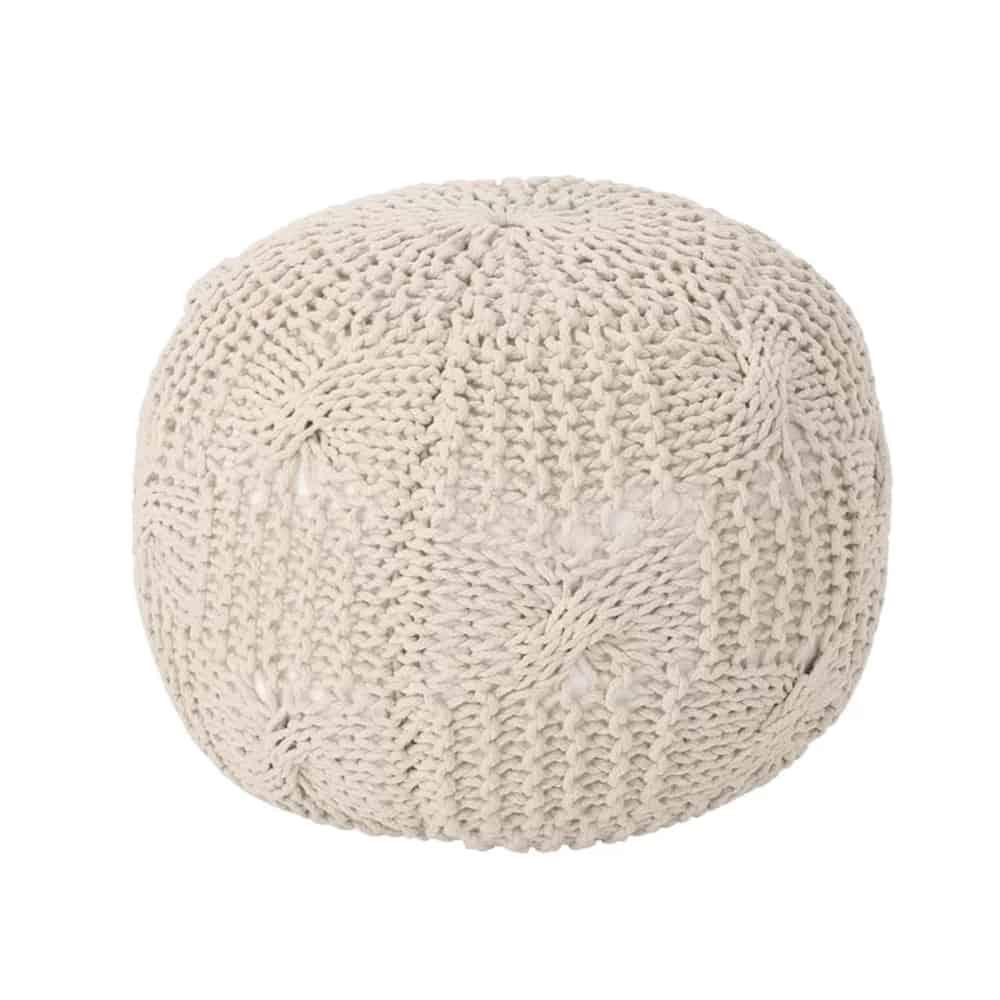 mabie knit pouf