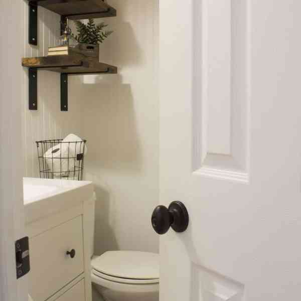 main floor powder room entry