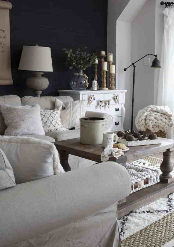 A Very Neutral Spring Farmhouse Living Room
